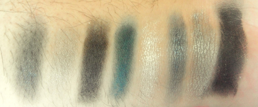 Eyeshadows Swatched in the order they appear in the palette