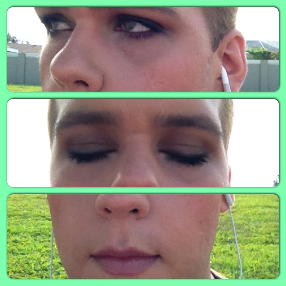 Look using Girly all over the lid and Dainty as a highlight.
